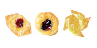 Изолят десертов плодоовощ голубики и ананаса клубники датский стоковое изображение