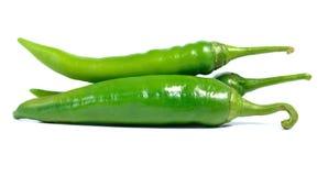 Изолят зеленого перца на белой предпосылке Стоковые Изображения RF