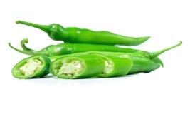 Изолят зеленого перца на белой предпосылке Стоковые Фото