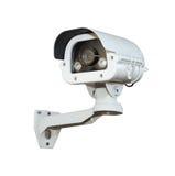 Изолят камеры слежения или CCTV на белой предпосылке Стоковые Изображения