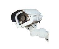 Изолят камеры слежения или CCTV на белой предпосылке Стоковая Фотография RF
