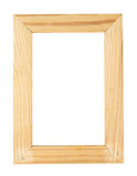 Изолят картинной рамки деревянный Стоковые Изображения RF