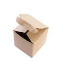 Изолят картонной коробки на белой предпосылке (с путем клиппирования) Стоковое Изображение RF
