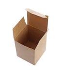 Изолят картонной коробки на белой предпосылке (с путем клиппирования) Стоковое фото RF