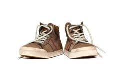 Изолят кожаных ботинок Стоковые Изображения RF