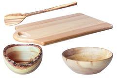 Изолят лопаткоулавливателя деревянных шаров разделочной доски 2 деревянный Стоковое фото RF
