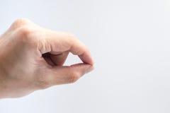 Изолят позиции пальца заразительный на белой предпосылке для дизайна Стоковые Изображения