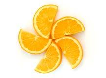 Изолят свежего куска полуокружности оранжевый Стоковое фото RF