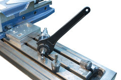 Изолят собрания CNC инструмента замка ключа филируя Стоковые Изображения RF