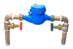 Изолят счетчика воды и клапана Стоковые Фотографии RF