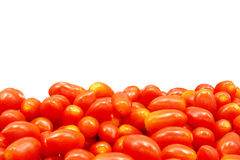 Изолят томатов вишни на белизне Стоковая Фотография RF