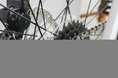 Изолят цепи велосипеда на белой предпосылке Стоковая Фотография RF