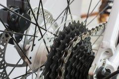 Изолят цепи велосипеда на белой предпосылке Стоковое Изображение