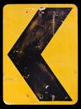 Изолят шаблона дорожного знака на белой предпосылке Стоковое Изображение