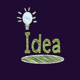 Изолят электрической лампочки чертежа на черноте бесплатная иллюстрация