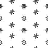 Изоляция безшовных снежинок картины абстрактная, элемент зимы для дизайна Стоковые Фото