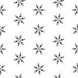 Изоляция безшовных снежинок картины абстрактная, элемент зимы для дизайна Стоковые Фотографии RF