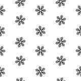 Изоляция безшовных снежинок картины абстрактная, элемент зимы для дизайна Стоковое Фото