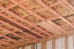 Изоляция в конструкции гаража Стоковые Фото