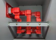 изоляция красного цвета шины 5kv Стоковое фото RF