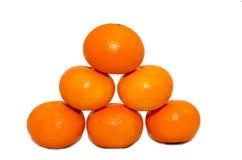 Изоляция мандаринов, Стоковые Фото