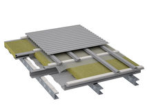 Изоляция плоской крыши Стоковые Изображения RF