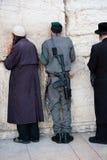 израильская стена воина западная стоковая фотография
