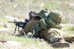Израильская тренировка воина Стоковая Фотография RF