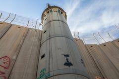 Израильские барьер или стена западного берега стоковые фото