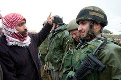 израильские палестинцы протестуют стену разъединения Стоковые Фото