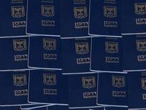 Израильские пасспорты Стоковое фото RF