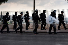 израильские полиции riot Стоковая Фотография RF