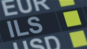 Израильский поднимать шекеля, понижаясь Валютный рынок мира Тариф валюты изменяя иллюстрация вектора