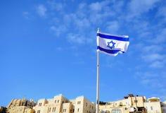 Израильский флаг Стоковое Изображение