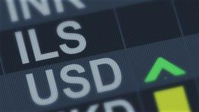 Израильский шекель сравненный к американскому доллару Зыбкост курса валюты бесплатная иллюстрация