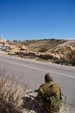 израильское палестинское село воинов патруля стоковое фото rf