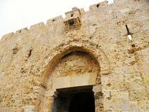 Израиль, Иерусалим, Ближний Восток, старый город, строб Дамаска Стоковое Фото