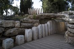 Израиль Иерусалим 24-ое октября 2018: Yad Vashem, мемориал Израиля официальный к еврейским установленным жертвам холокоста, стоковые изображения rf