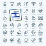 Израиль - минимальная тонкая линия набор значка сети o иллюстрация штока