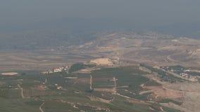 Израиль, около 2011 - граница Израиля Ливана с столбами армии ООН видеоматериал