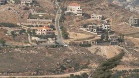 Израиль, около 2011 - граница Израиля Ливана с столбами армии ООН сток-видео