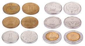 Израильские монетки - высокий угол Стоковая Фотография