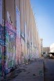 Израильский барьер западного берега стоковое изображение