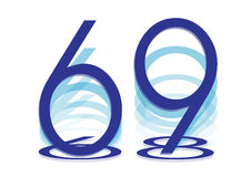Израиль значок 69 Дней независимости Стоковое Изображение