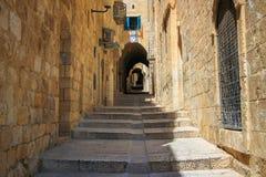 Израиль, Иерусалим, каменные улицы Стоковая Фотография