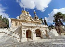 Израиль Иерусалим - 15-ое февраля 2017 Церковь St Mary Magdalene Стоковые Изображения