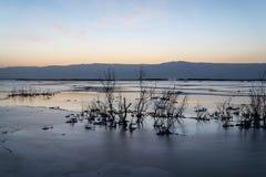 Израиль мертвое море рассвет Стоковое Изображение RF