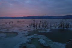 Израиль мертвое море рассвет Стоковые Изображения RF