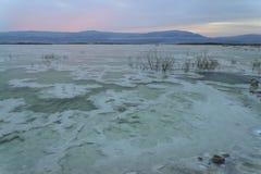 Израиль мертвое море рассвет Стоковая Фотография RF