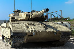 Израиль сделал главный боевой танк Merkava Mk III Latrun, Израиль Стоковая Фотография